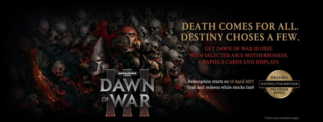 Osta ASUS gaming-tuote ja saat DOW 3 -pelin kaupan päälle!!