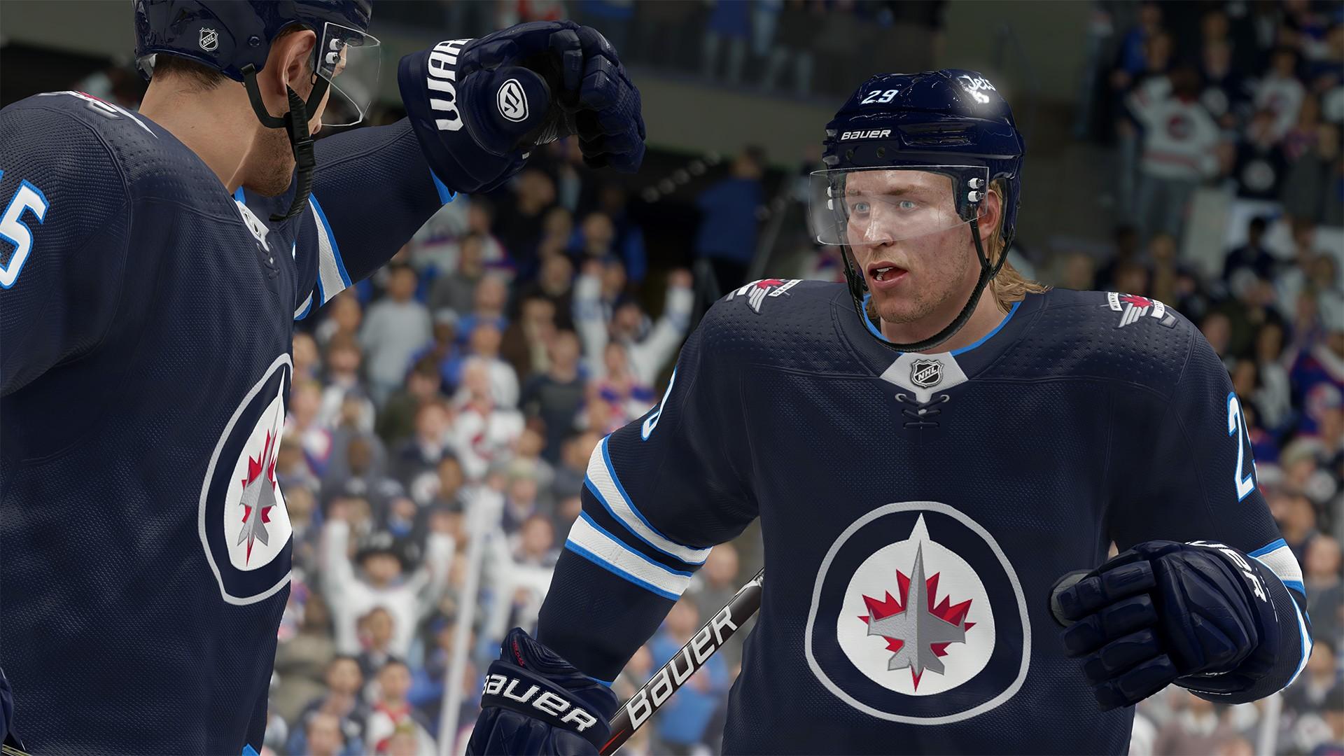 Suomalainen jääkiekkoilija Patrik Laine on uuden NHL 19 -pelin kannessa