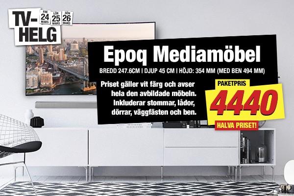 Gäller endast t om söndag - Halva priset på Epoq mediamöbel.