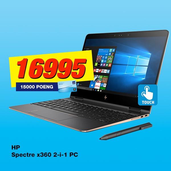 Kjøp HP Spectre x360 2-i-1 PC og få SAS Eurobonus Ekstrapoeng med i prisen