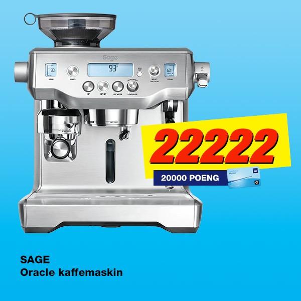 Kjøp en Sage Oracle espressomaskin og få SAS Eurobonus Ekstrapoeng med i prisen