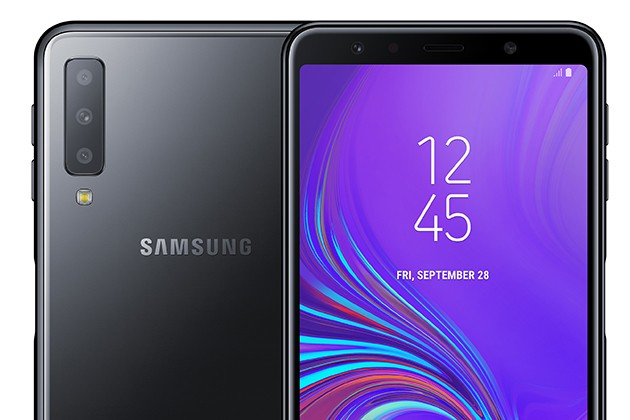 Samsung Galaxy A7 svart