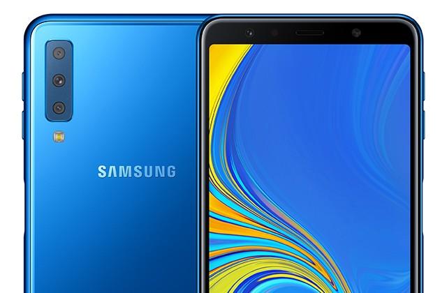Samsung Galaxy A7 sinisenä