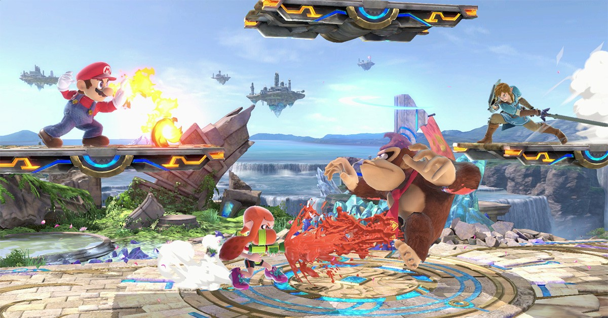 Sceneri fra Super Smash Bros. Ultimate, som er cool for alle