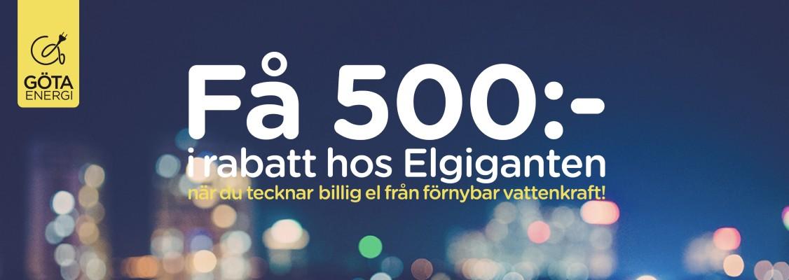 2e9552033562 Byt till billig el från Göta Energi – få 500 kr rabatt hos Elgiganten!
