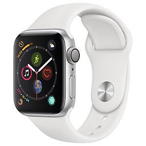 Apple Watch Series 4 40mm (hopea/valkoinen urheiluranneke)