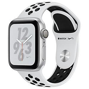 Apple Watch Series 4 Nike+ 40 mm (hopea/platina+musta urheiluranneke)