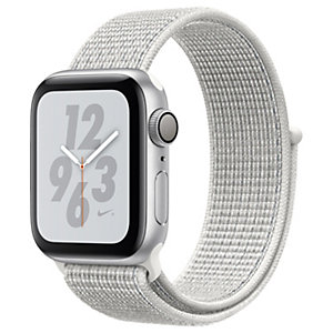 Apple Watch Series 4 Nike+ 40 mm (hopea/valkoinen sport loop)