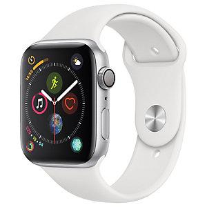 Apple Watch Series 4 44mm (hopea/valkoinen urheiluranneke)