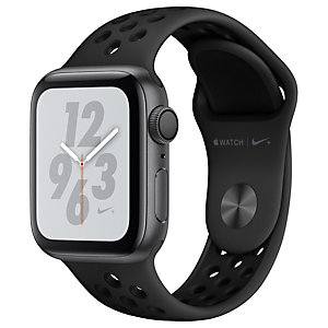 Apple Watch Series 4 Nike+ 40 mm (harmaa/antrasiitti+musta ranneke)