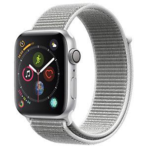 Apple Watch Series 4 44 mm (sølv alu/sjøskjell sport loop)