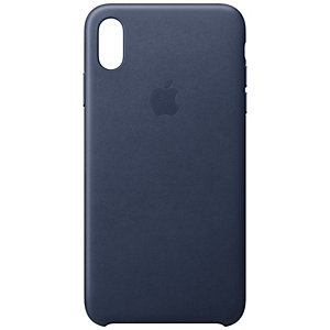 iPhone Xs Max nahkakuori (yönsininen)