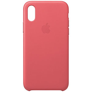 iPhone Xs nahkakuori (pioni)