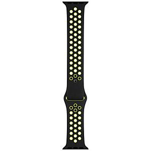 Apple 44 mm Nike Sport armband (svart/volt)