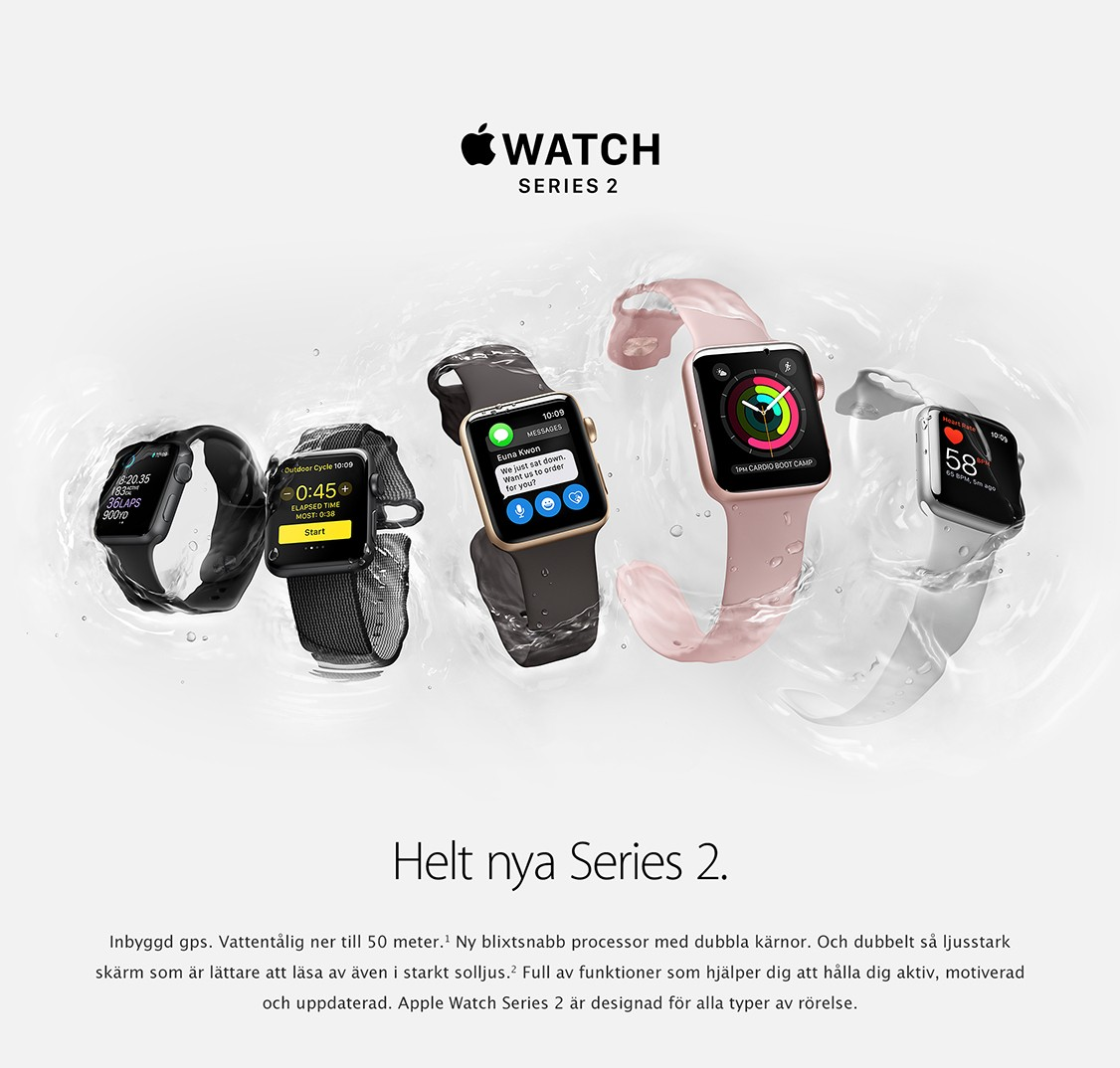 apple watch 2 series 2 fr n apple elgiganten. Black Bedroom Furniture Sets. Home Design Ideas