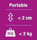 Alle 2 kiloa painavat CREATE-kannettavat