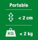 Alle 2 kiloa painavat HOME-kannettavat