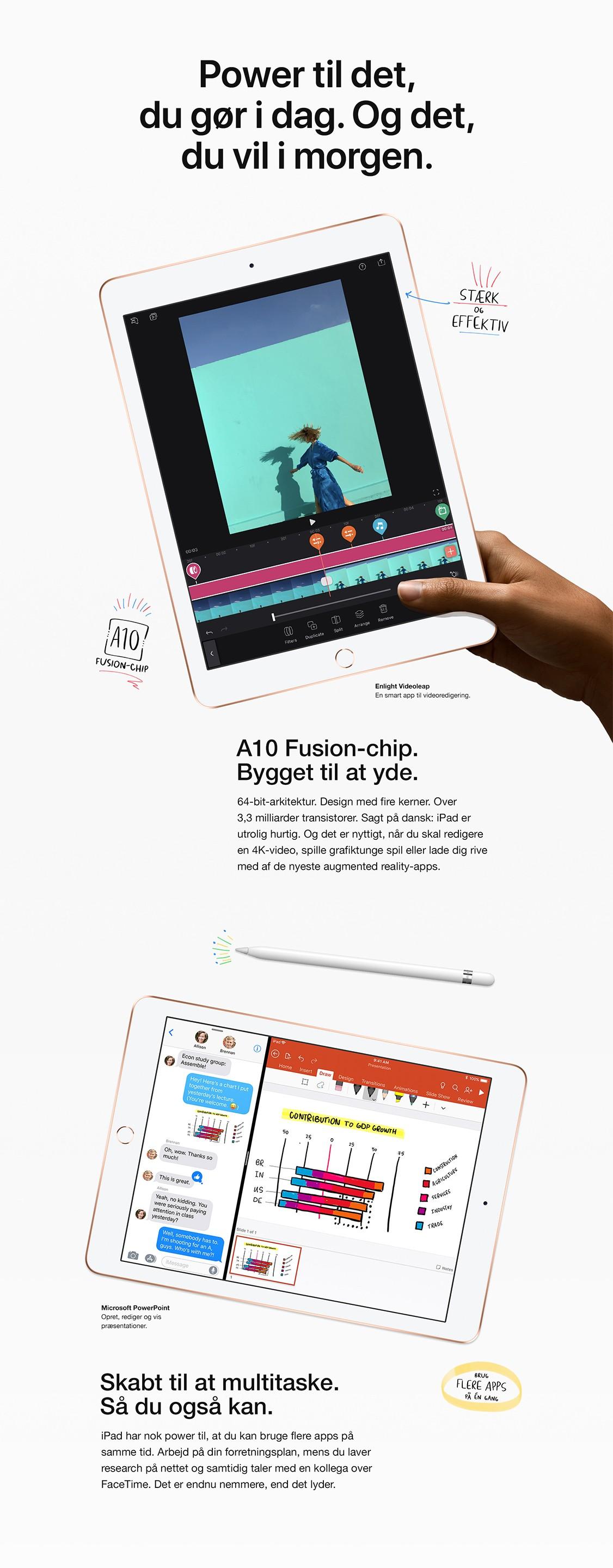 iPad med A10 Fusion chip, giver dig kraft til at yde mere