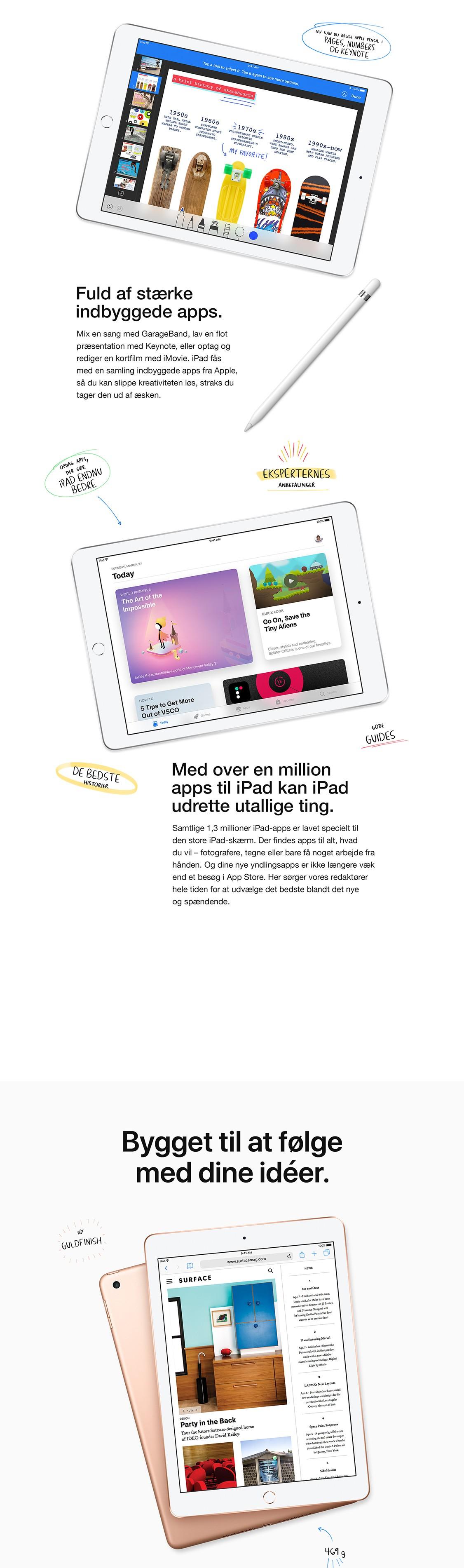 """Prøv millioner af apps på 9,7"""" iPad'en"""