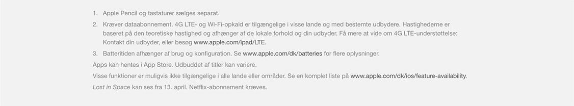 "Køb 9,7"" iPad"