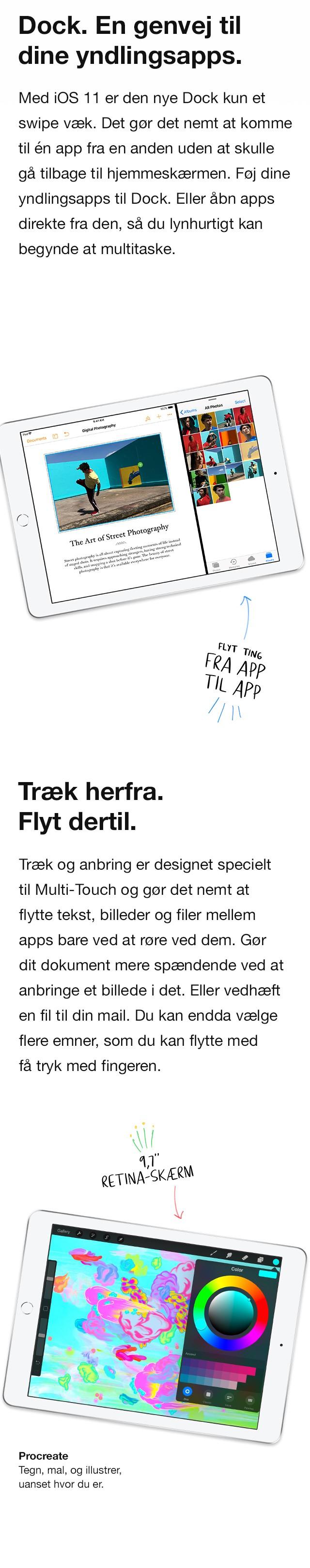 Med iOS og Dock er det utroligt nemt at finde dine favorit apps