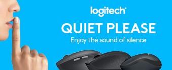 Nyd stilheden - få arbejdsro med en lydløs mus fra Logitech