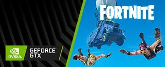 Køb GeForce GTX og få GeForce Fortnite Pakken med i købet