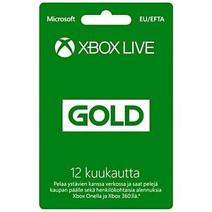 Microsoft Xbox Live Gold 12 month membership