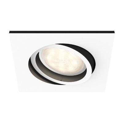 philips hue milliskin firkantet spot 5042131p8 hvit smart belysning elkj p. Black Bedroom Furniture Sets. Home Design Ideas
