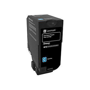 Lexmark 74C20C0 cyan tonerkassett (return prog)