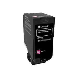 Lexmark 74C2SM0 magenta tonerkassett (return prog)