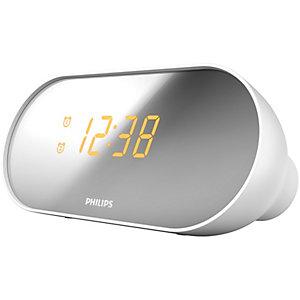 Philips AJ2000 Klockradio med alarm (vit/silver)