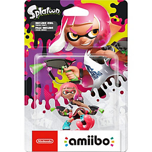 Nintendo Amiibo samlarfigur - Inkling Girl (neonrosa)