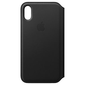 iPhone X Folio skinndeksel (sort)