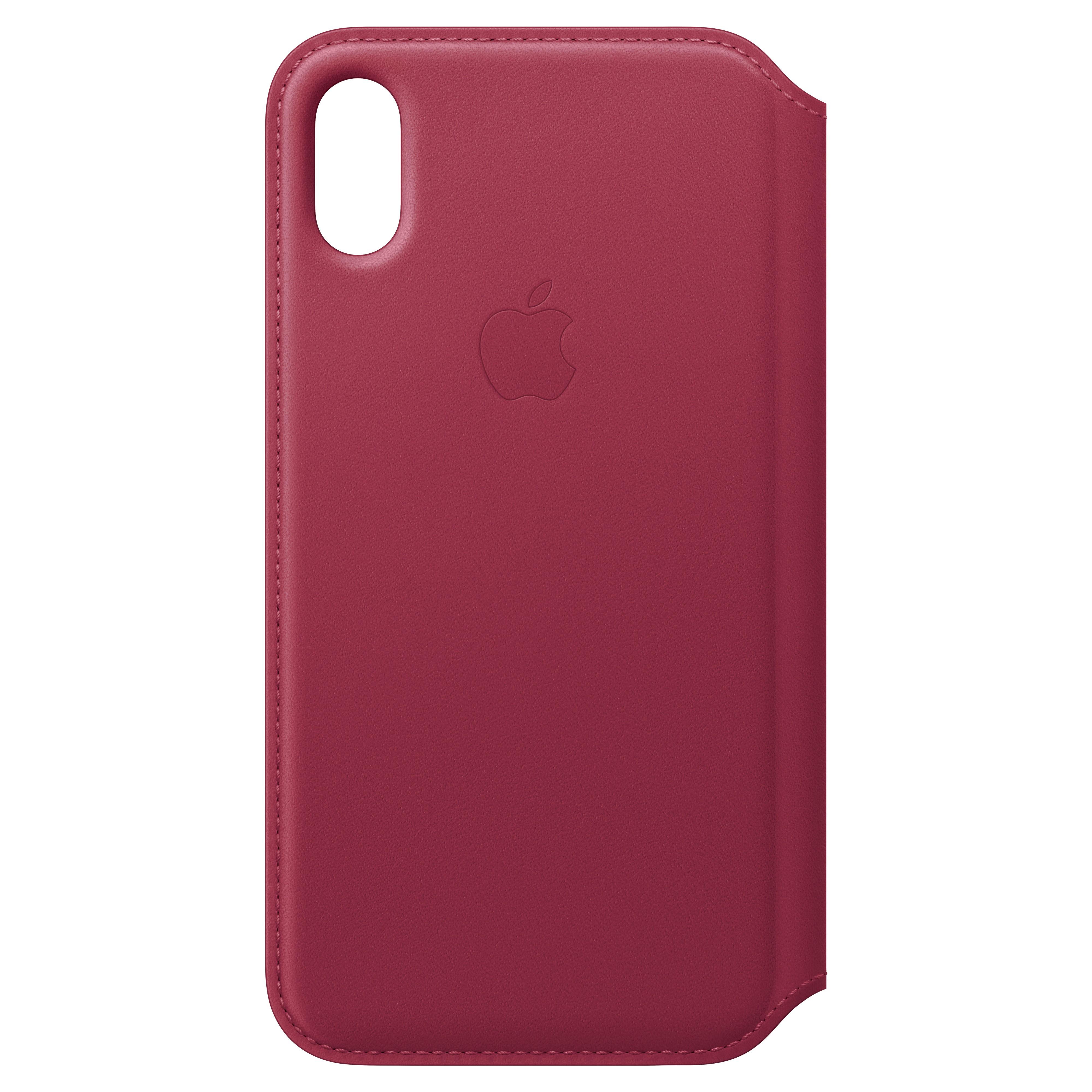MQRX2ZM/A : iPhone X Folio skinndeksel (berry)