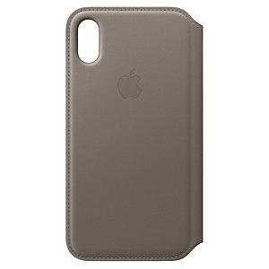 iPhone X Folio skinndeksel (taupe)