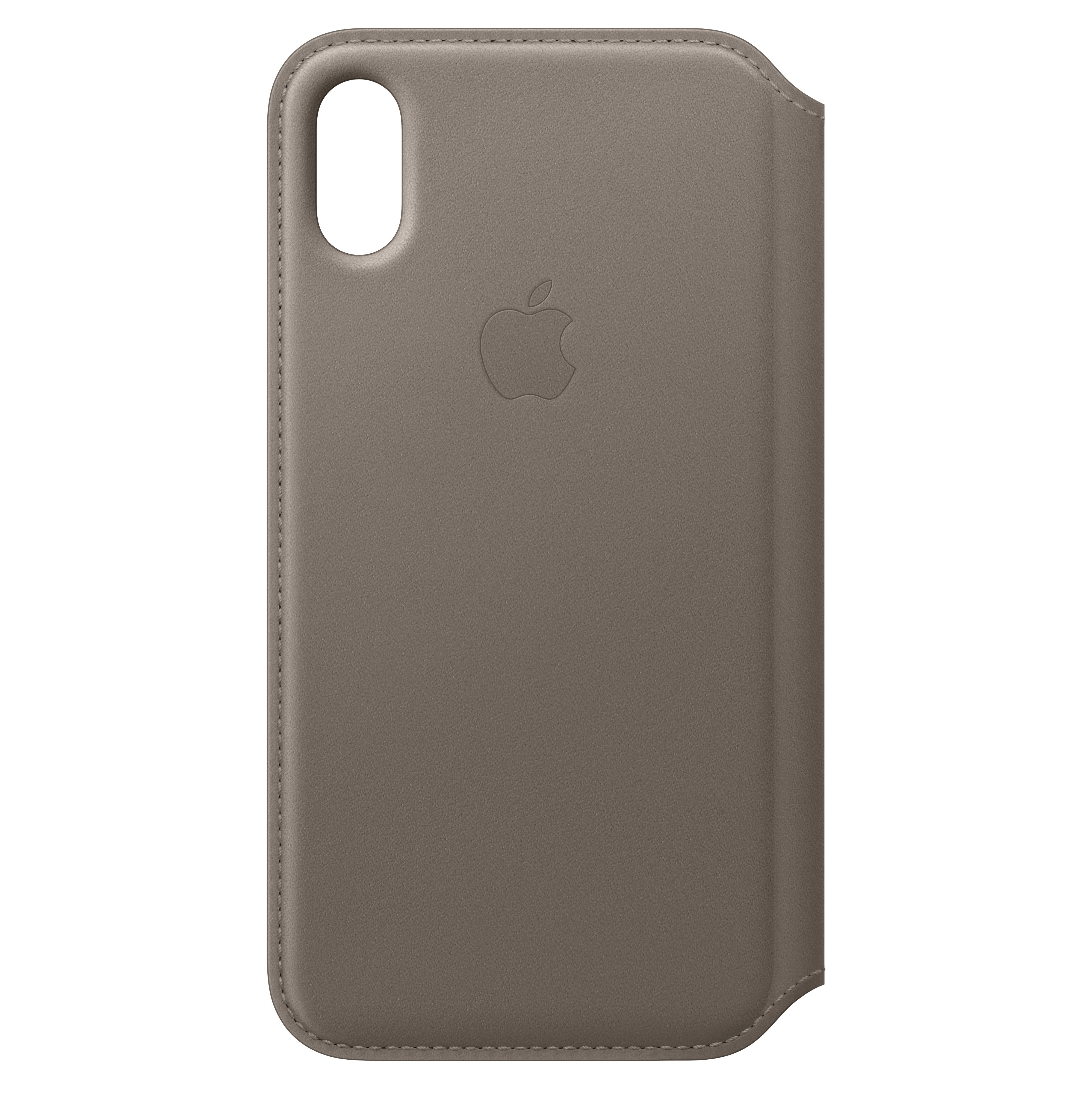 MQRY2ZM/A : iPhone X Folio skinndeksel (taupe)