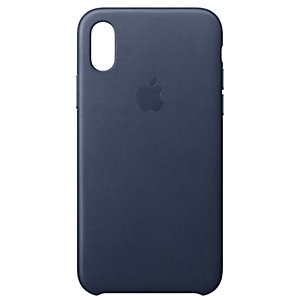 iPhone X lærdeksel (midnattsblå)