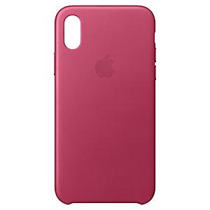 iPhone X lærdeksel (rosa fuchsia)