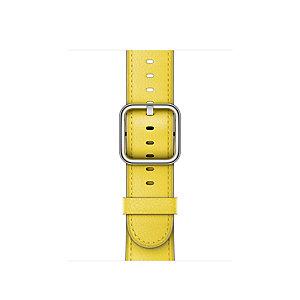 Apple 42 mm nahkaranneke (keltainen)