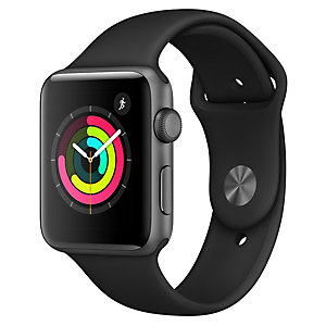 Apple Watch Series 3 38 mm (sort sportsreim)