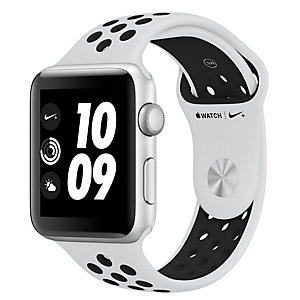 Apple Watch Series 3 Nike+ 38 mm (platina/sort reim)