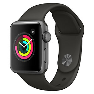 Apple Watch Series 3 38 mm (grå sportsreim)