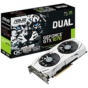 Asus Dual GeForce GTX 1070 OC grafikkort (8 GB)