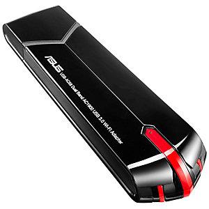 Asus USB-AC68 WiFi-ac adapter (svart)