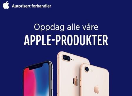 Vi har et stort utvalg av Apple-produkter