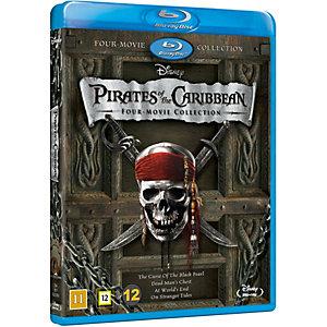 Pirates of the Caribbean -Samling med 4 filmer(Blu-ray)