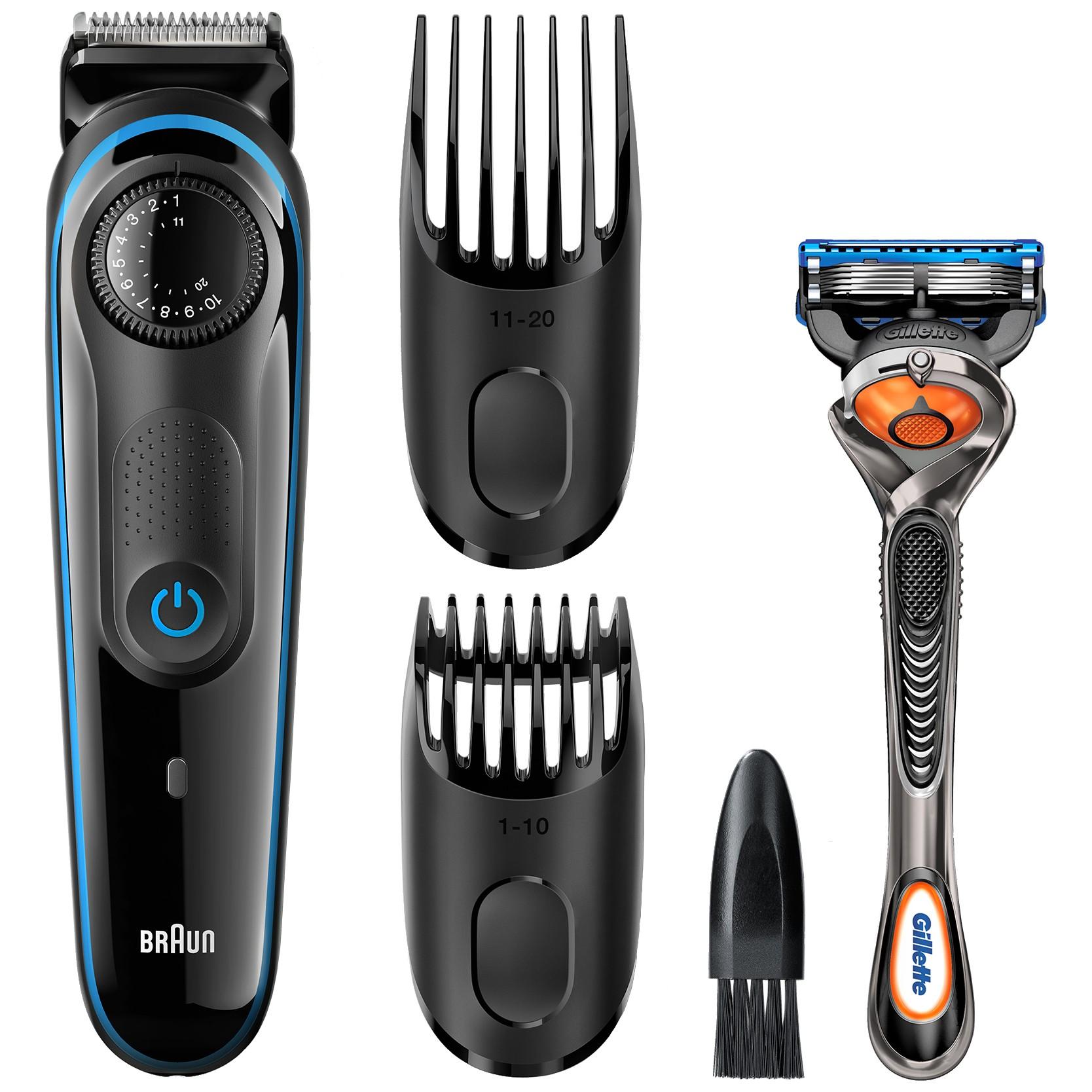 167655 : Braun skjeggtrimmer BT3040 med barberhøvel