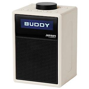Jensen Buddy DAB Lite kannettava FM-radio (valkoinen)