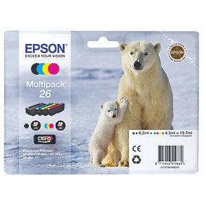 Epson Bläckpatron Claria Premium 26 (4 st)